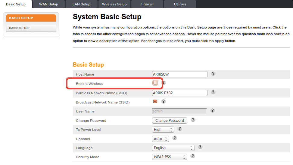 0_basic_setup how to disable wifi on arris tg862 modem  at readyjetset.co